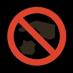 マスクポイ捨て 厳禁
